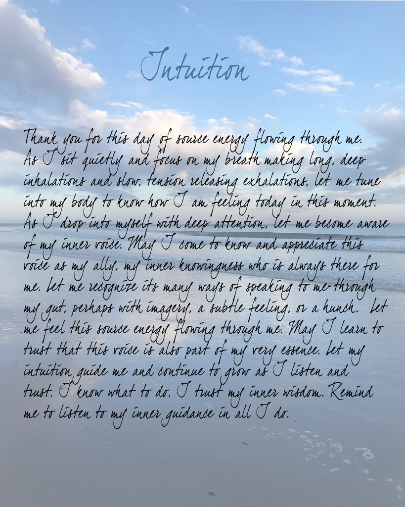 Prayer Shawl Honoring Intuition