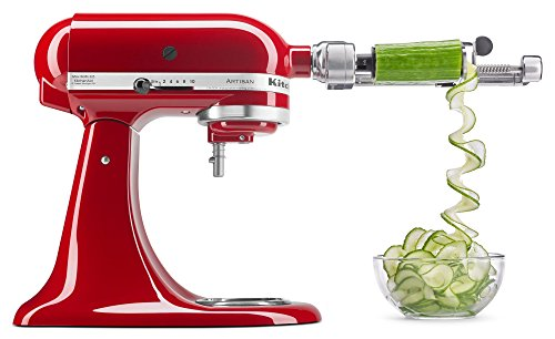 "KitchenAid KSM1APC Spiralizer Attachment 1"" Silver - SkinnyMinx"