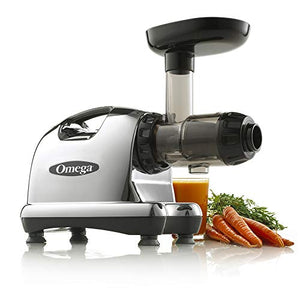Omega J8006 Nutrition Center Masticating Dual-Stage Juicer, Metallic - SkinnyMinx