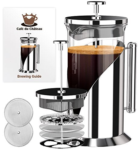 French Press Coffee Maker With 4 Level Filtration System, 34 Ounce - SkinnyMinx