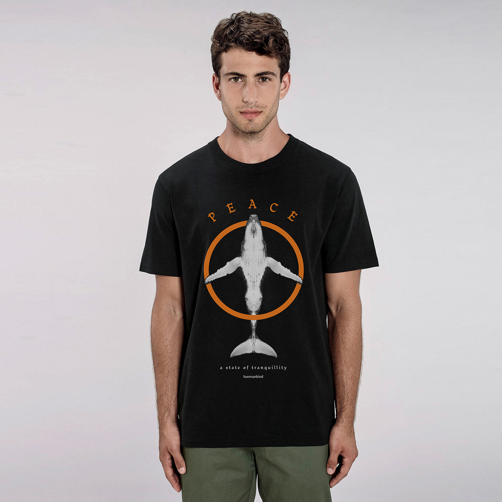Huemankind Classic Peace Men 100% Organic Cotton T-Shirt - Huemankind.World