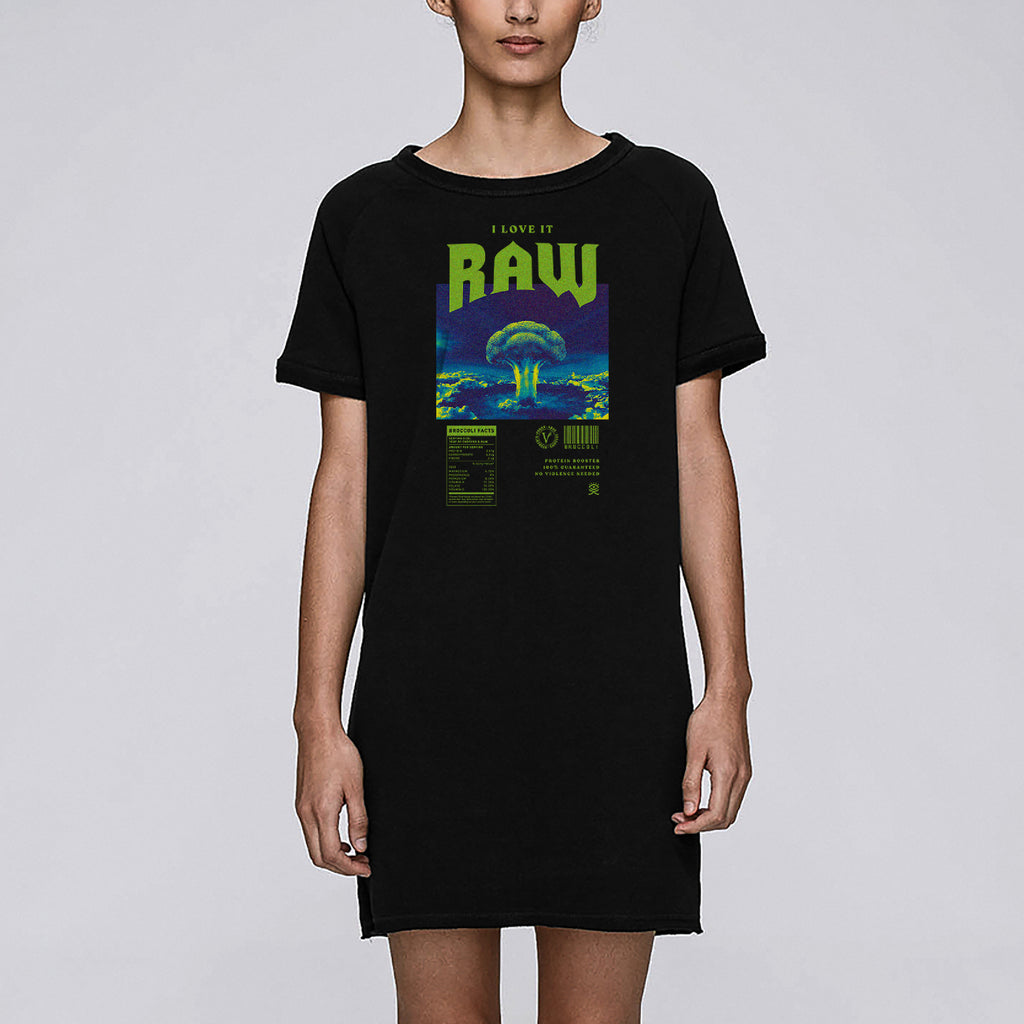 Huemankind I Love It Raw Organic Cotton Dress Tee - Huemankind.World