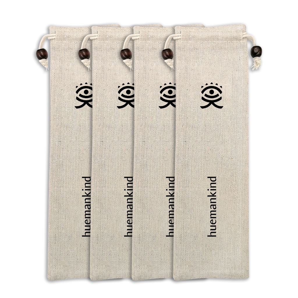Huemankind Vegan Linen Storage Pouch (4 sets) - Huemankind.World