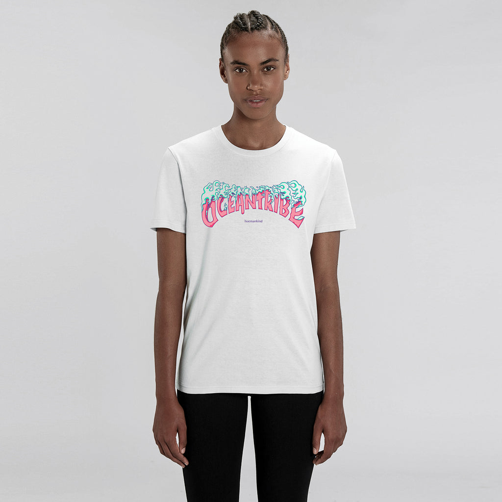 Huemankind OceanTribe 100% Organic Cotton T-Shirt (Pink) - Huemankind.World