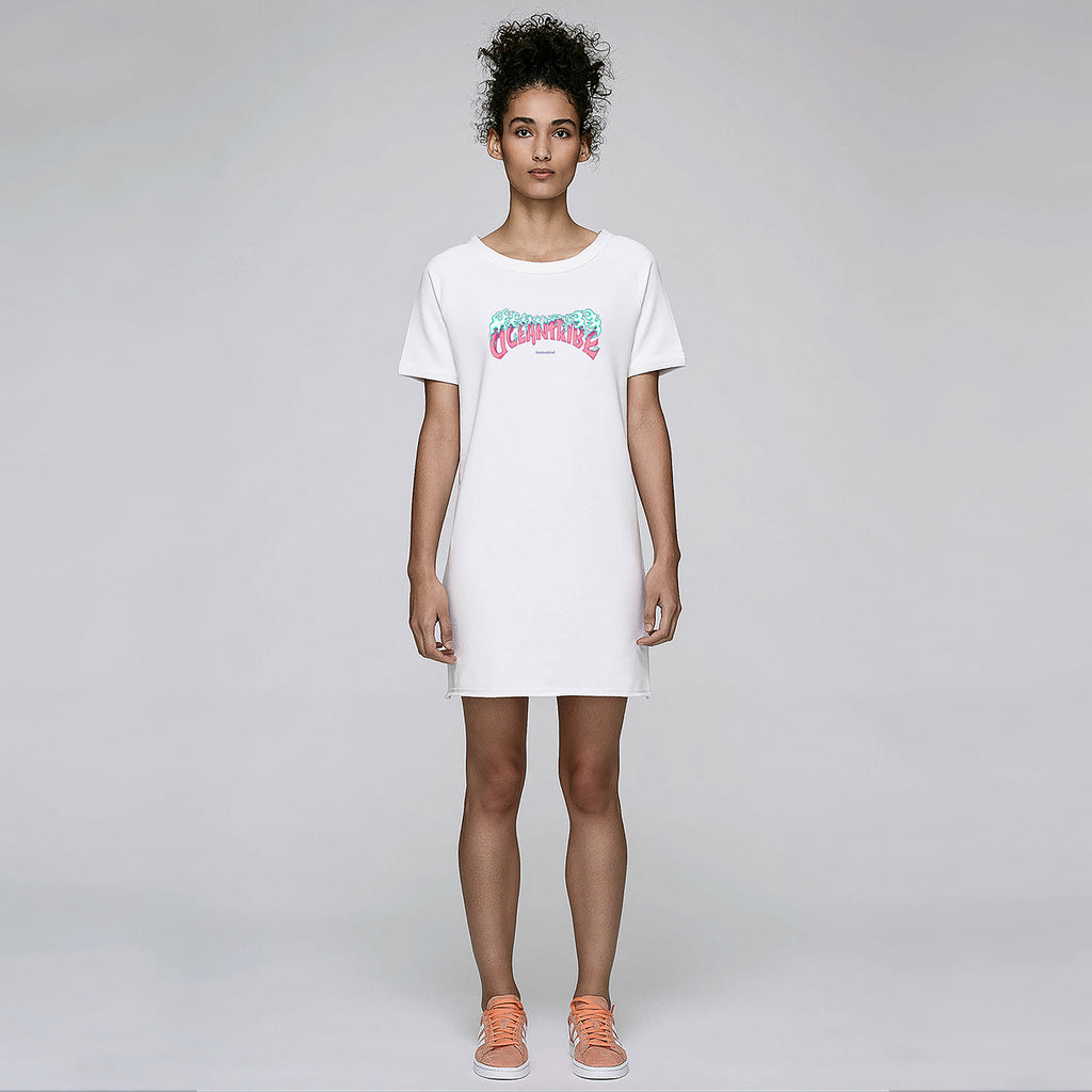 Huemankind OceanTribe Organic Cotton Dress Tee (Pink) - Huemankind.World