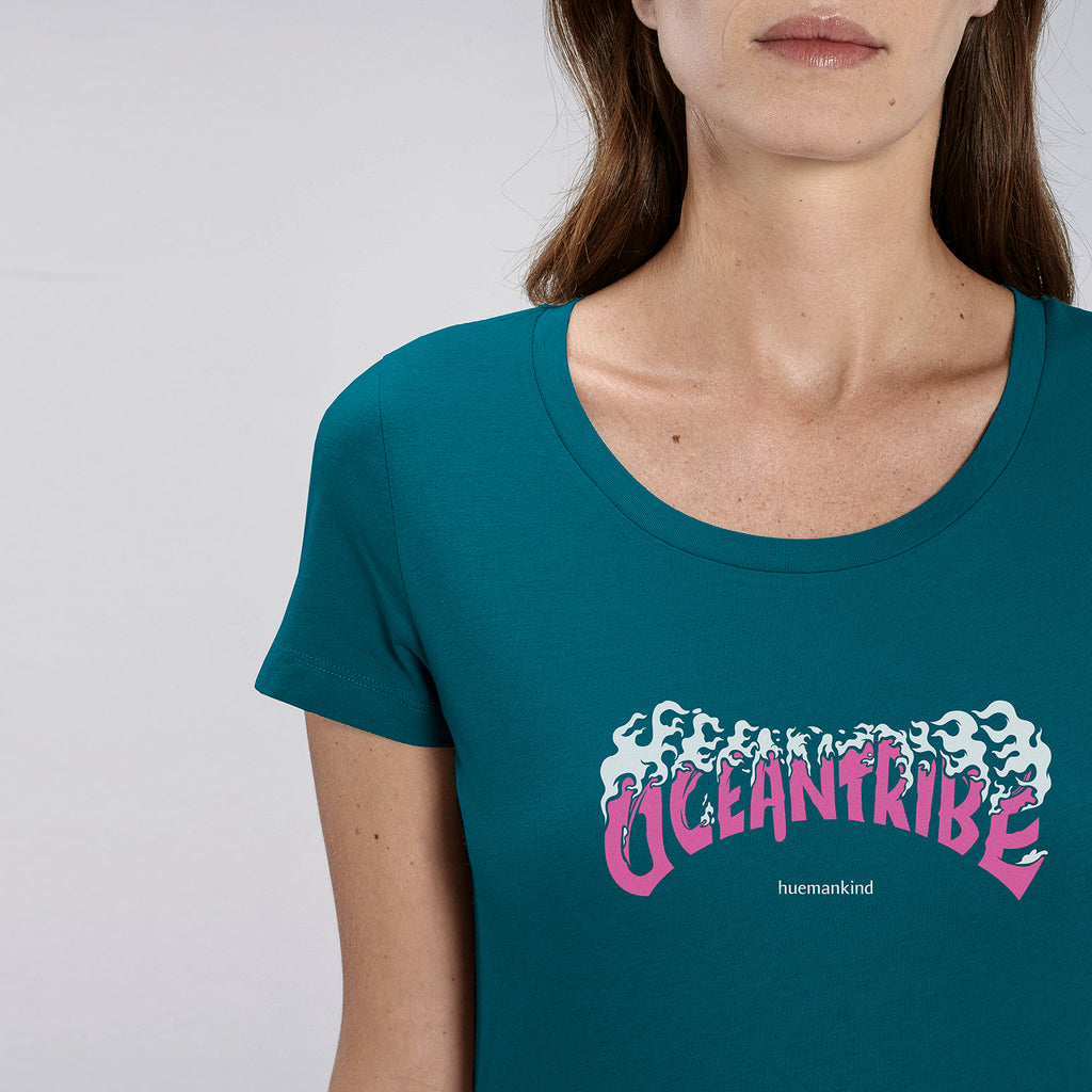 Huemankind OceanTribe Women Organic Cotton T-Shirt - Huemankind.World