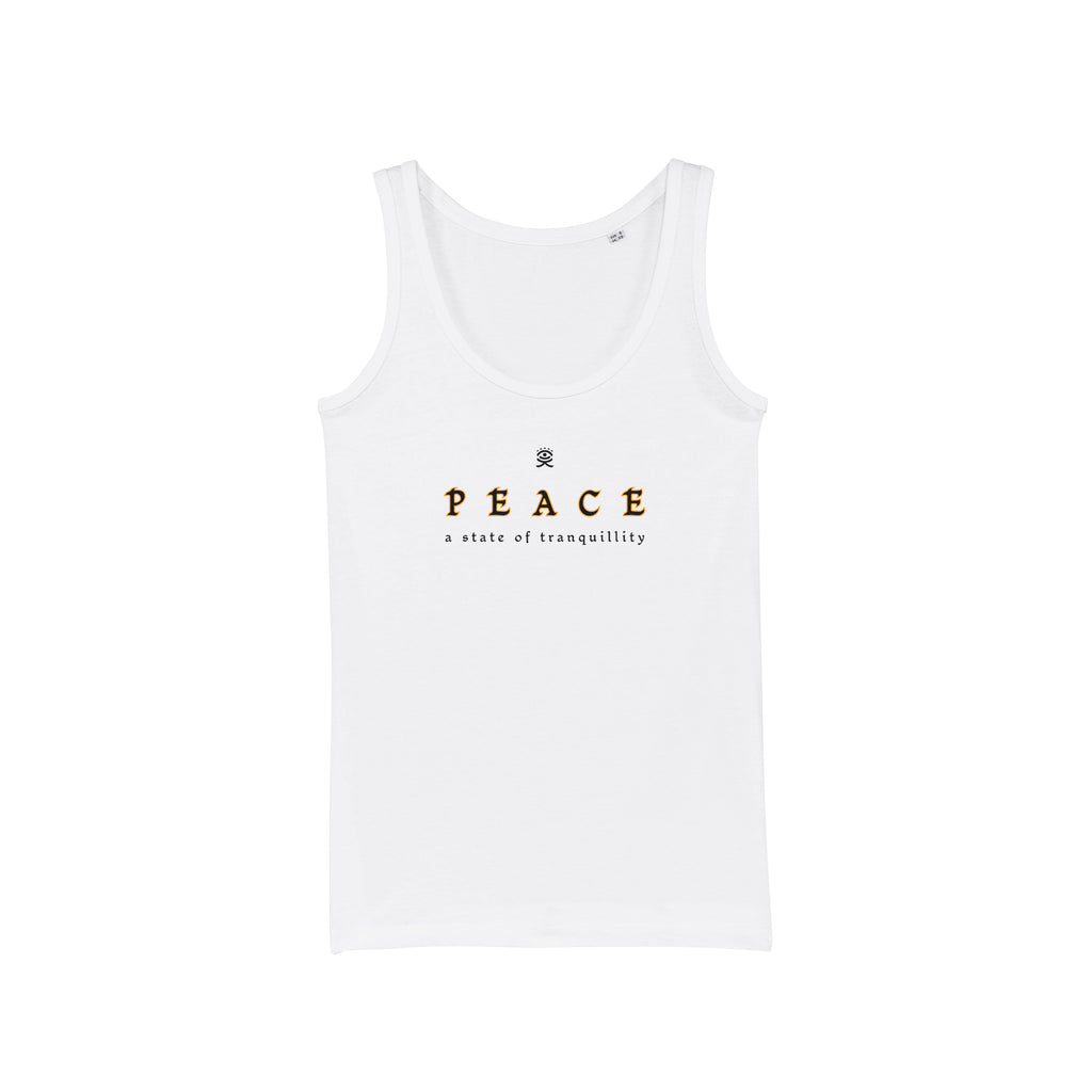 Huemankind Peace Women 100% Organic Cotton Tank - Huemankind.World
