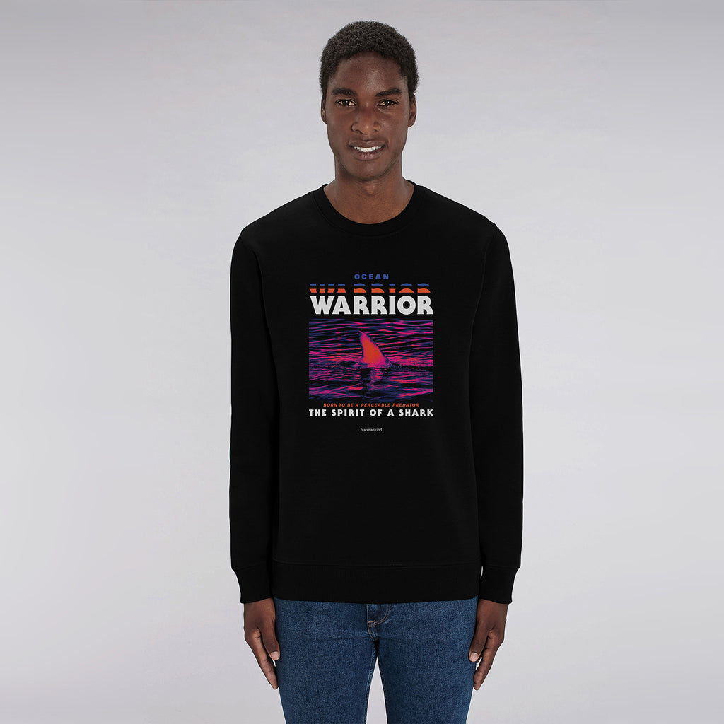 Huemankind Spirit Of A Shark Men Organic Cotton Sweatshirt - Huemankind.World