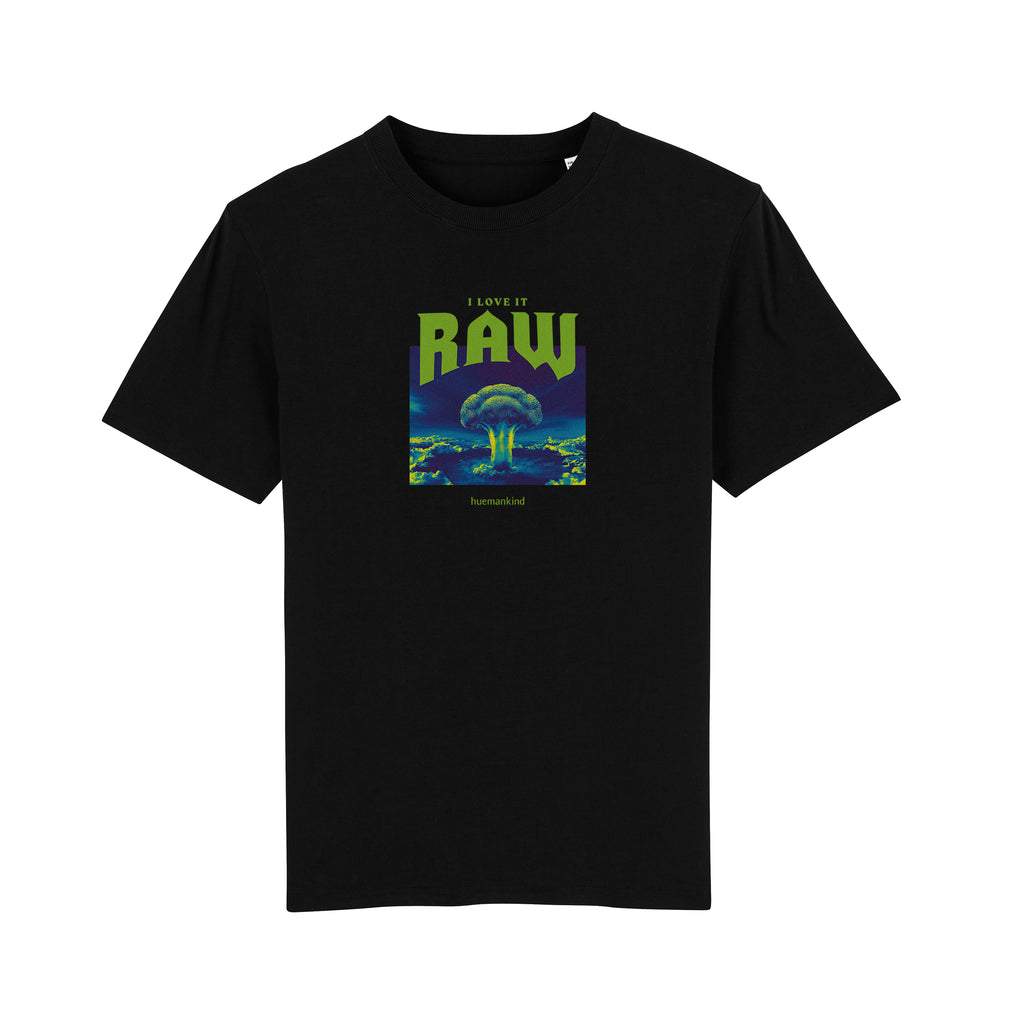 Huemankind I Love It Raw Men 100% Organic Cotton T-Shirt - Huemankind.World
