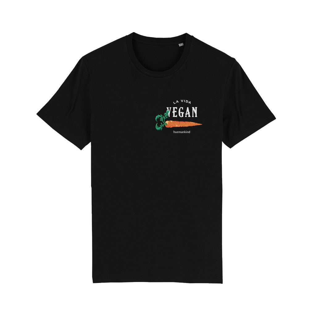 Huemankind La Vida Vegan Carrot II 100% Organic Cotton T-Shirt - Huemankind.World