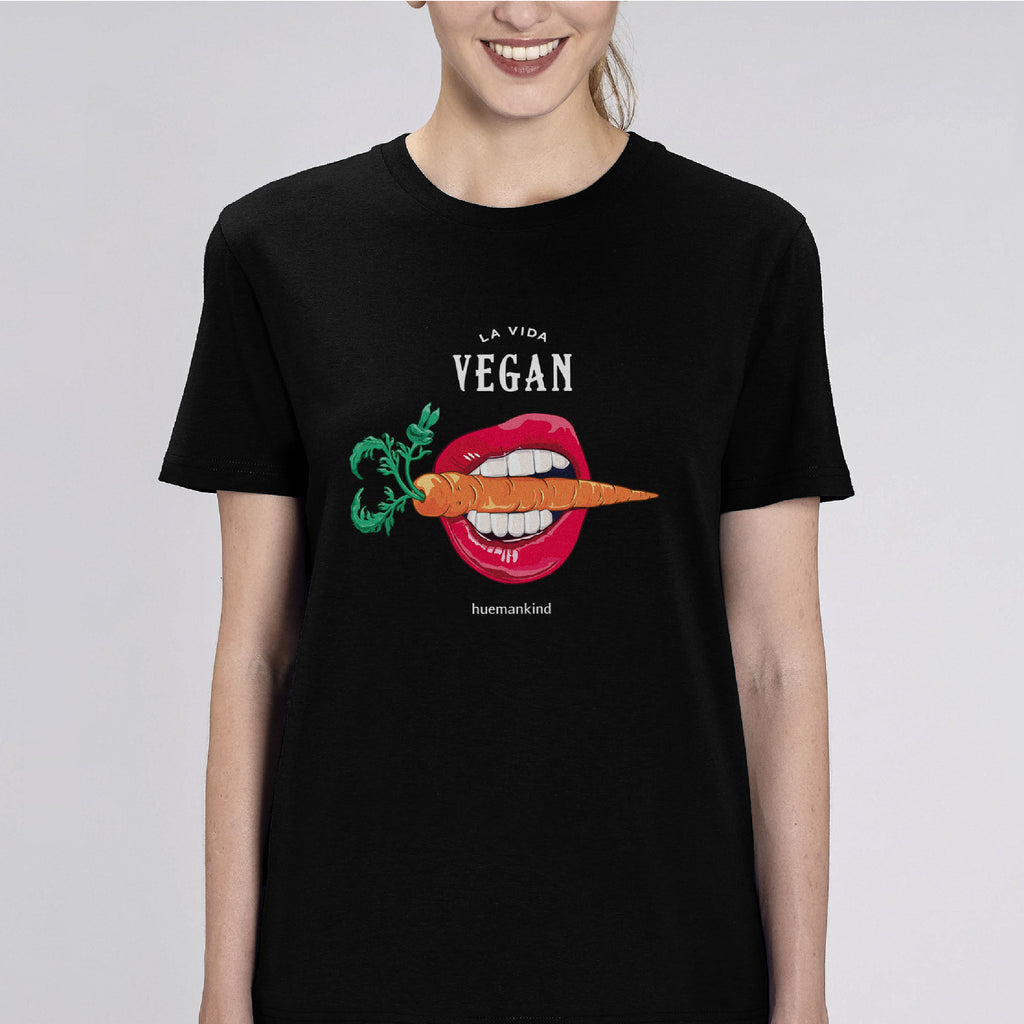 Huemankind La Vida Vegan Carrot 100% Organic Cotton T-Shirt - Huemankind.World