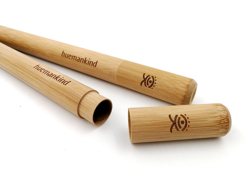 Huemankind Bamboo Travel Straw Case - Huemankind.World