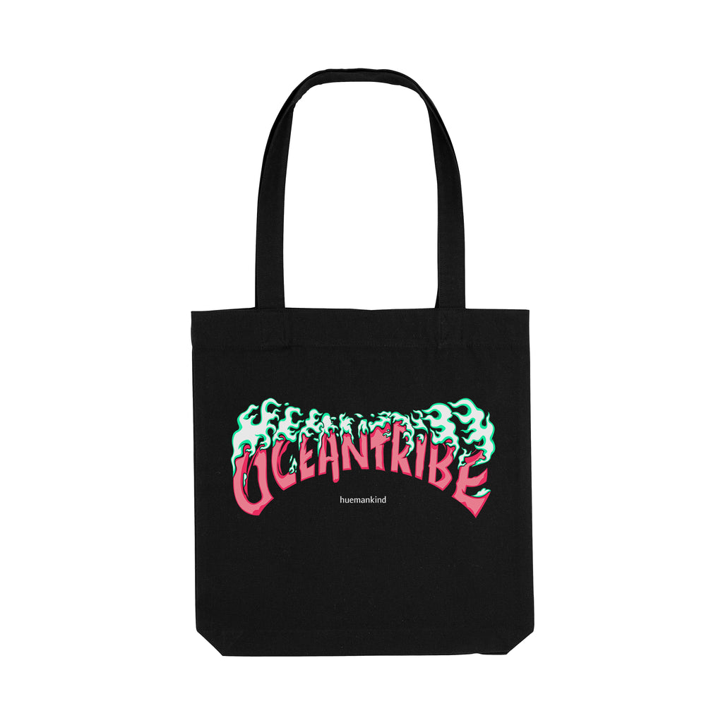 Huemankind OceanTribe Organic Cotton Tote Bag (Pink) - Huemankind.World