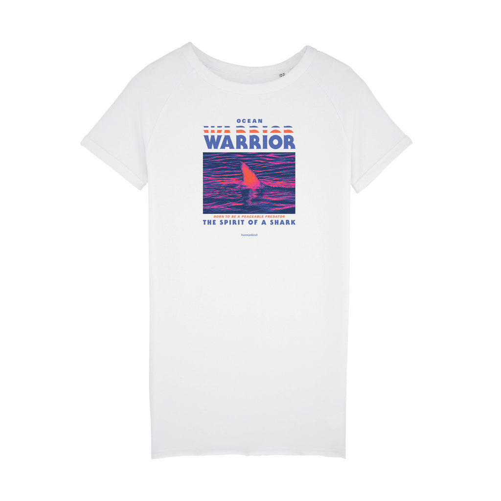 Huemankind Spirit Of A Shark Organic Cotton Dress Tee - Huemankind.World
