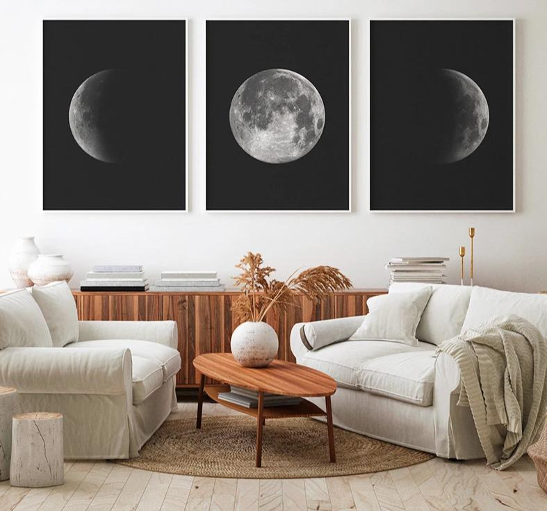Moon Phase Modern Canvas