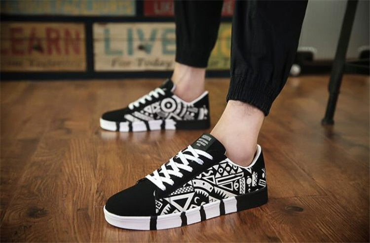 Canvas Graffiti Sneakers