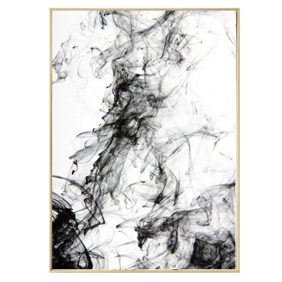 Black White Ink Abstract Canvas