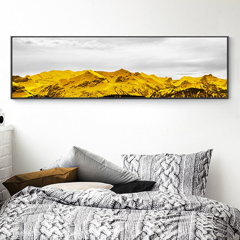 Extra Wide Modern Landscape Canvas