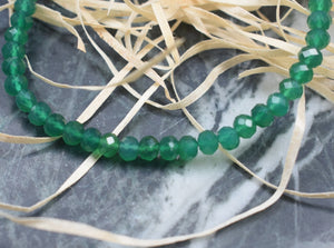 Green Onyx Gemstone Bracelet