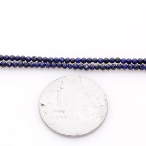 Microfacets 2.5 mm Blue Sapphire AAA++ Quality Natural Gemstone Genuine Callibrated Faceted Rondelle Round Beads Strand 13 Inch