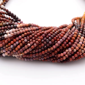 Microfacets 2.75 mm Mookaite AAA++ Quality Natural Gemstone Genuine Callibrated Faceted Rondelle Round Beads Strand 13 Inch