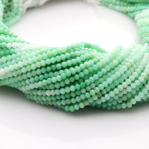 Microfacets 3.25 mm Chrysoprase Shaded AAA++ Quality Natural Gemstone Genuine Callibrated Faceted Rondelle Round Beads Strand 13 Inch