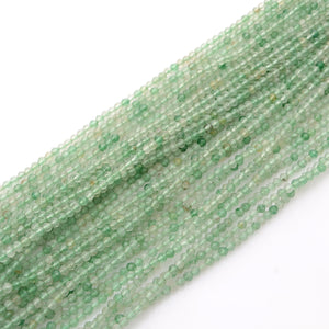 Microfacets 3.5 mm Green Strawberry Quartz AAA++ Quality Natural Gemstone Genuine Callibrated Faceted Rondelle Round Beads Strand 13 Inch