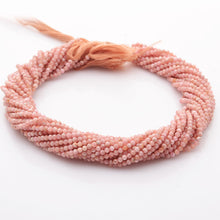 Load image into Gallery viewer, Microfacets 3.00 mm Rhodochrosite AAA++ Quality Natural Gemstone Genuine Callibrated Faceted Rondelle Round Beads Strand 13 Inch