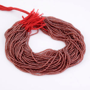 Microfacets 2.5 mm Garnet AAA++ Quality Natural Gemstone Genuine Callibrated Faceted Rondelle Round Beads Strand 13 Inch