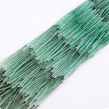 Load image into Gallery viewer, Microfacets 2.25 mm Emerald AAA++ Quality Natural Gemstone Genuine Callibrated Faceted Rondelle Round Beads Strand 13 Inch