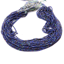 Load image into Gallery viewer, Microfacets 2.25 mm Azurite AAA++ Quality Natural Gemstone Genuine Callibrated Faceted Rondelle Round Beads Strand 13 Inch