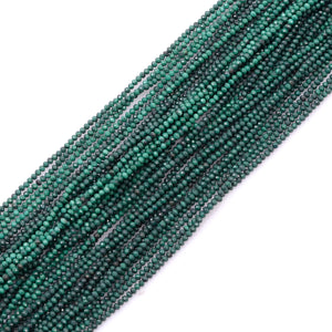 Microfacets 2.1-2.3 mm Malachite AAA++ Quality Natural Gemstone Genuine Callibrated Faceted Rondelle Round Beads Strand 13 Inch