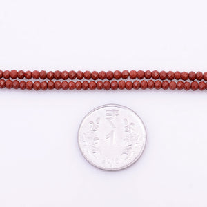 Microfacets 3.25mm Red Agate AAA++ Quality Natural Gemstone Genuine Callibrated Faceted Rondelle Round Beads Strand 13 Inch