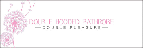 Double hooded bathrobe