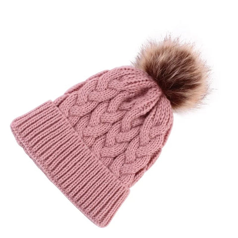 Blush Pink Mummy and me beanies