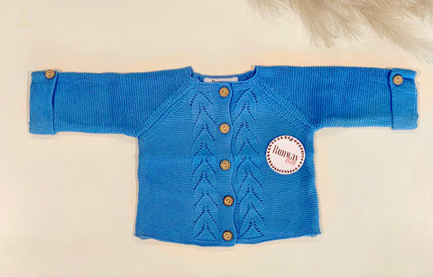 UNISEX Royal blue cardigan