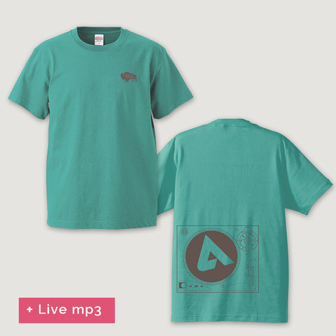 ム (mu) T-shirt by moOog Yamamoto ― Mint Green + Live mp3 (Digital item)