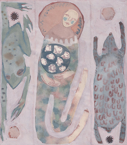 Emily Unsworth White 'Belly of Stars' watercolour and goache on paper 25cm x 21cm