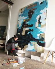 Stewart Swan at work in his studio