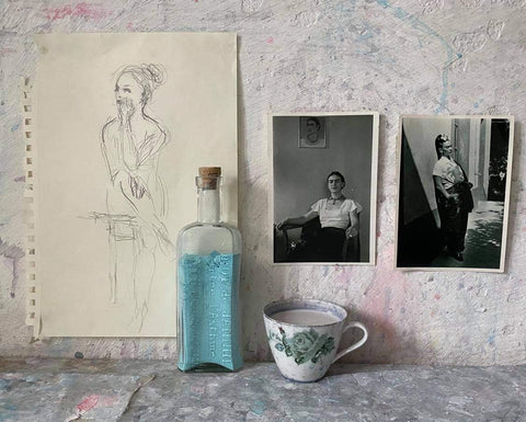 Jorunn Mulen - sources of inspiration: old photographs, little trinkets and sketches