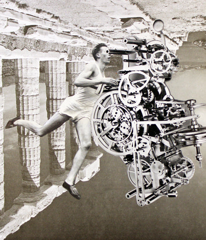 Time + Runner a collage by Pum