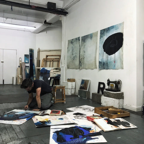 Stewart Swan in his studio