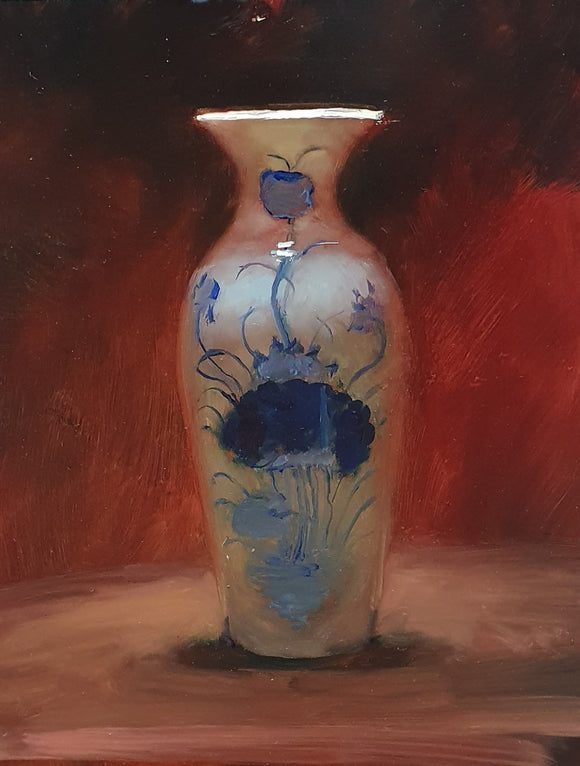Title: Vase Artist: Andrew Sinclair Medum: Oil on board Size: 25 x 20 cm Broth Art