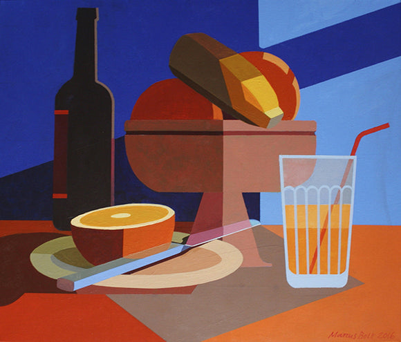 Fruit Bowl and Glass by Marcus Bolt