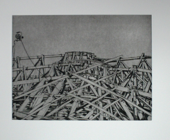 Patricia Cain 'E8 Steel Grove' etching edition of 10 (available framed) Broth Art