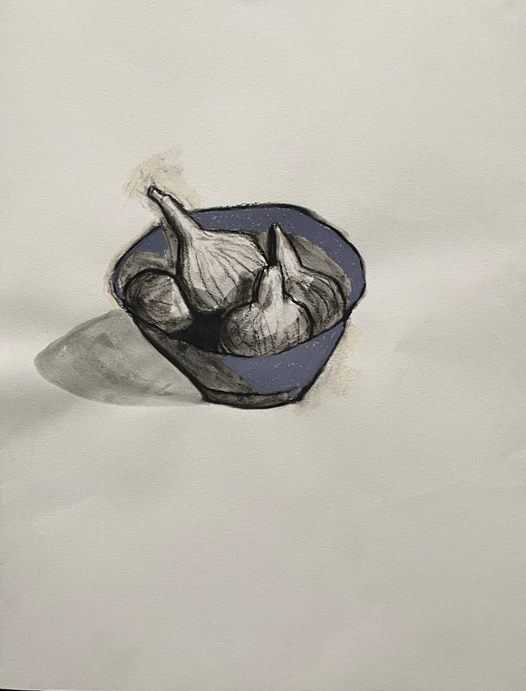 Maureen Nathan 'Fig Bowl' charcoal and pastel on fabiano paper (unframed) Broth Art