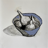 Maureen Nathan 'Fig Bowl' charcoal and pastel on fabiano paper (unframed) Broth Art - DETAIL