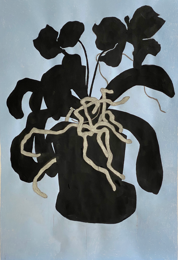 Maureen Nathan 'Orchid' charcoal and pastel on fabiano paper (unframed) Broth Art