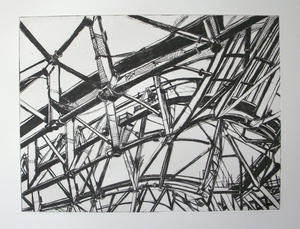 Patricia Cain 'Ribs and Cans' etching edition of 10 (available framed) Broth Art