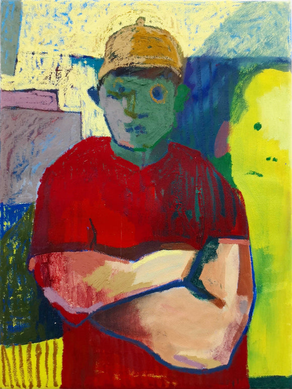 Title: Self Portrait Artist: Gordy Livingston Medium: oil on canvas (unframed) Size: 40 cm x 30 cm